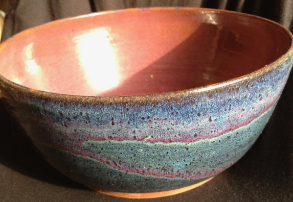 overlapped glazes on stoneware